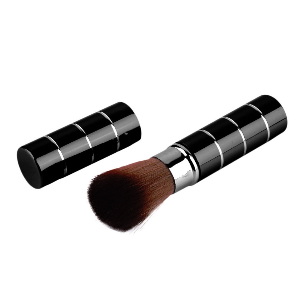 Kuas Make Up Blush On Retractable Brush - Black