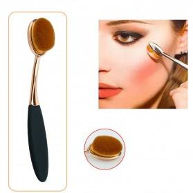 Kuas Kosmetik Make Up Oval Brush Wajah 10 PCS - Black - 6