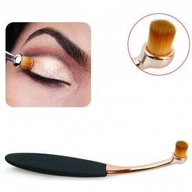Kuas Kosmetik Make Up Oval Brush Wajah 10 PCS - Black - 7