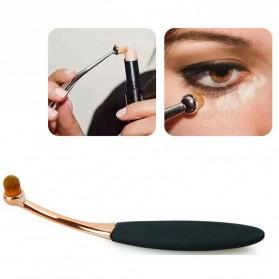 Kuas Kosmetik Make Up Oval Brush Wajah 10 PCS - Black - 8