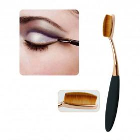 Kuas Kosmetik Make Up Oval Brush Wajah 10 PCS - Black - 9