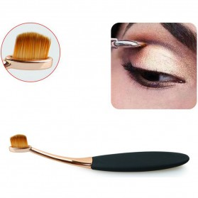Kuas Kosmetik Make Up Oval Brush Wajah 10 PCS - Black - 10