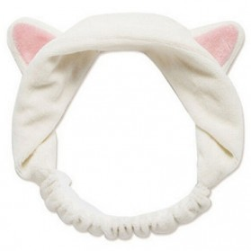 Bando Hair Band Cat Ears - White