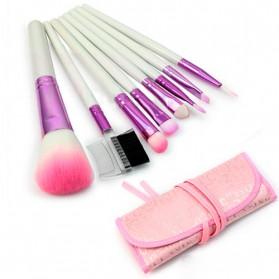 Brush Make Up 8 Set dengan Pouch - Pink - 2