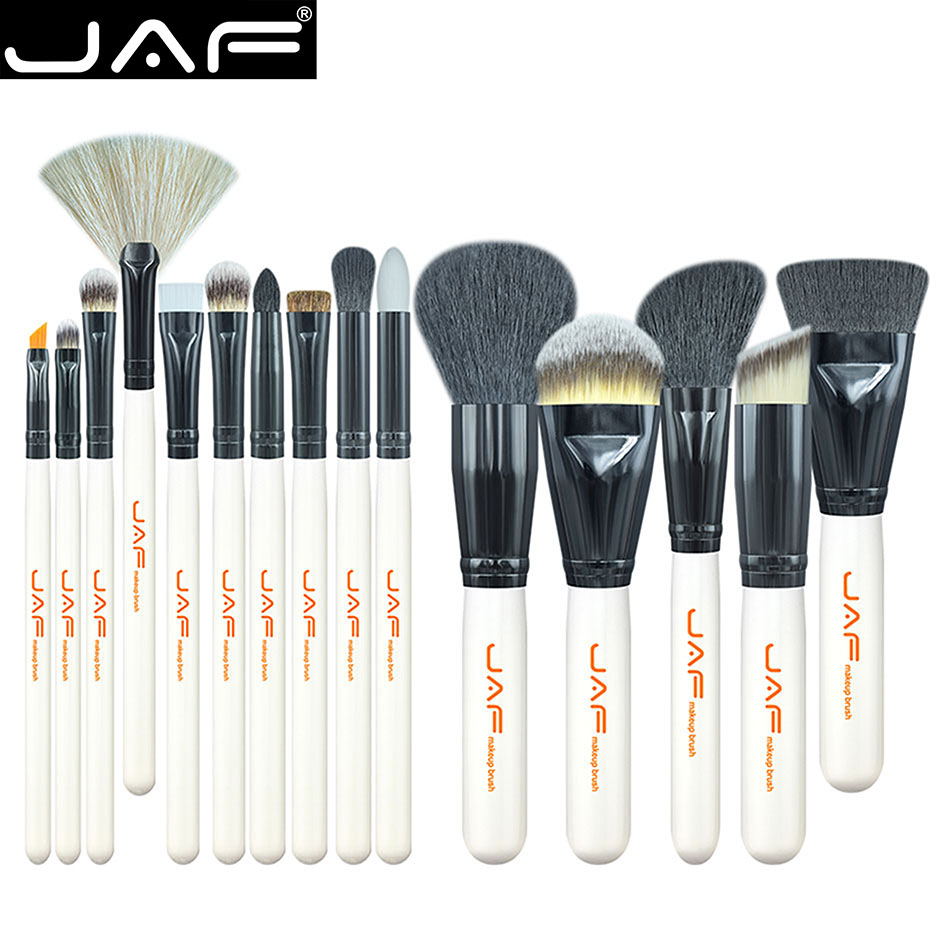 JAF Brush Make Up 15 Set - White - 1