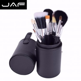 JAF Kuas Make Up 12 Set dengan Case - Black