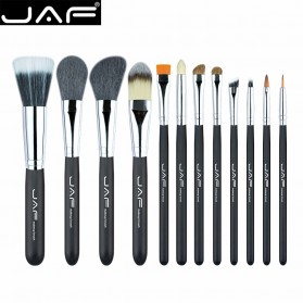 JAF Kuas Make Up 12 Set dengan Case - Black - 2