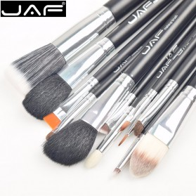 JAF Kuas Make Up 12 Set dengan Case - Black - 4