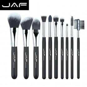 JAF Fan Brush Make Up 10 Set - Black - 1