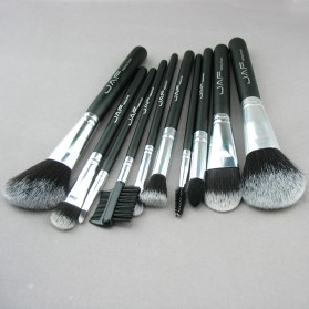 JAF Fan Brush Make Up 10 Set - Black - 3