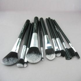 JAF Fan Brush Make Up 10 Set - Black - 4
