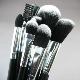 JAF Fan Brush Make Up 10 Set - Black - 5