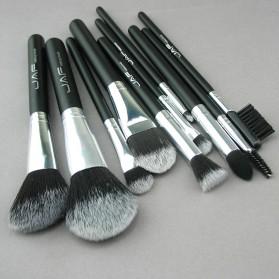 JAF Fan Brush Make Up 10 Set - Black - 7