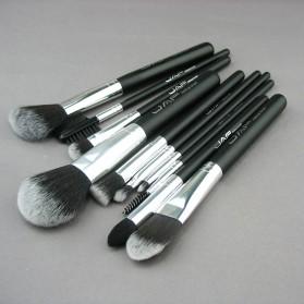 JAF Fan Brush Make Up 10 Set - Black - 8