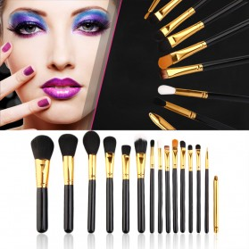 Maquiagem Brush Make Up 15 Set - Black Gold