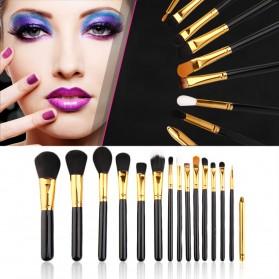 Maquiagem Brush Make Up 15 Set - Black Gold - 1