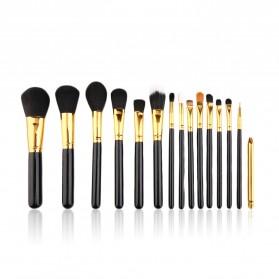 Maquiagem Brush Make Up 15 Set - Black Gold - 2