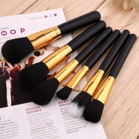Maquiagem Brush Make Up 15 Set - Black Gold - 4