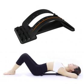 Luqi Alat Penunjang Kesehatan Punggung Sandaran Lumbar Spinal Support Waist Relax Mate - D868 - Black