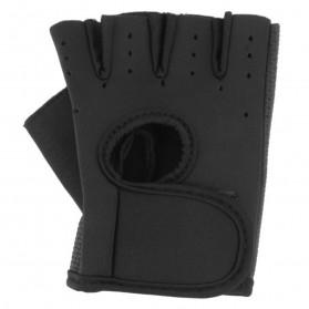 Sarung Tangan Fitness Half Finger Size L - Black