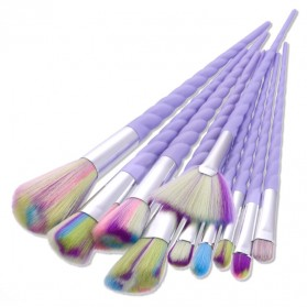 Unicorn Brush Make Up 10 Set - Purple