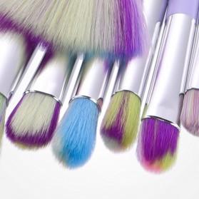 Unicorn Brush Make Up 10 Set - Purple - 3