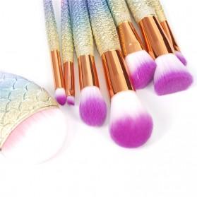 Mermaid Brush Make Up 8 Set - Multi-Color - 5