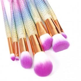 Mermaid Brush Make Up 8 Set - Multi-Color - 6