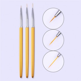 Alat Nail Art Lukis Kuku 3PCS - Golden