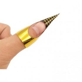 Kertas Form Nail Art Guide Gel Extension 100PCS - Black