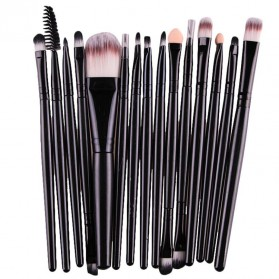 Kosmetik Brush Make Up 15 Set - Black