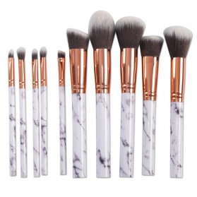 Marble Brush Make Up 10 Set - White