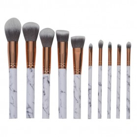 Marble Brush Make Up 10 Set - White - 2