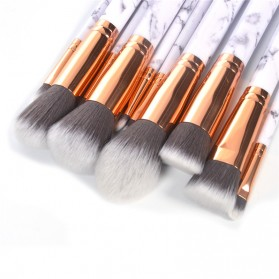 Marble Brush Make Up 10 Set - White - 4