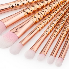 Diamond Brush Make Up 8 Set - ZNY8 - Rose Gold - 5