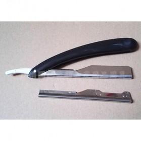 YINTAL Pisau Cukur Lipat Barber Razor Shaving Knife - 15029 - Black - 4