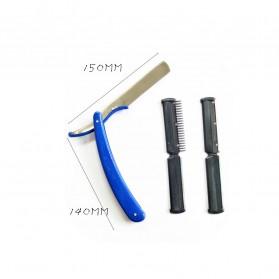 YINTAL Pisau Cukur Lipat Barber Razor Shaving Knife - 15029 - Black - 5