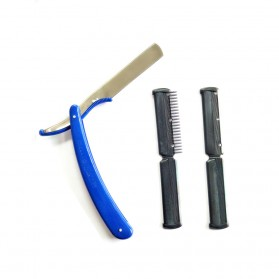YINTAL Pisau Cukur Lipat Barber Razor Shaving Knife - 15029 - Black - 6