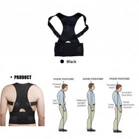 TaffSPORT Belt Magnetic Terapi Koreksi Postur Punggung Size L - T025 - Black