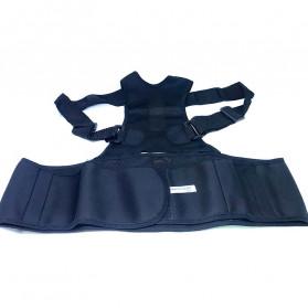 TaffSPORT Belt Magnetic Terapi Koreksi Postur Punggung Size L - T025 - Black - 2