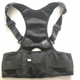TaffSPORT Belt Magnetic Terapi Koreksi Postur Punggung Size L - T025 - Black - 3