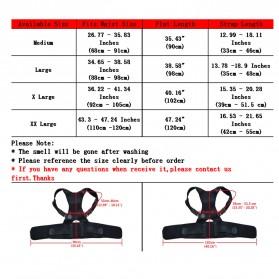 TaffSPORT Belt Magnetic Terapi Koreksi Postur Punggung Size L - T025 - Black - 8
