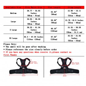 TaffSPORT Belt Magnetic Terapi Koreksi Postur Punggung Size XL - T025 - Black - 5