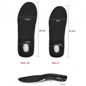 DADIJIER Alas Kaki Sepatu Shock Absorb Gel Coconut Beard Size S - C-727 - Black - 4
