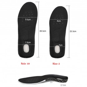DADIJIER Alas Kaki Sepatu Shock Absorb Gel Coconut Beard Size L - C-727 - Black - 4