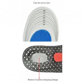 Alas Kaki Sepatu Shock Absorb Gel Orthotic Arch Size S 35-40 - ZYD17 - Gray - 6