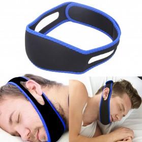 Sabuk Tidur Anti Ngorok Snoring Solution - Black/Blue