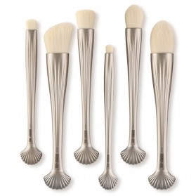 Shell Brush Make Up Pro 6 Set - Golden