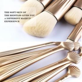 Shell Brush Make Up Pro 6 Set - Golden - 3