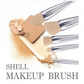 Shell Brush Make Up Pro 6 Set - Golden - 7